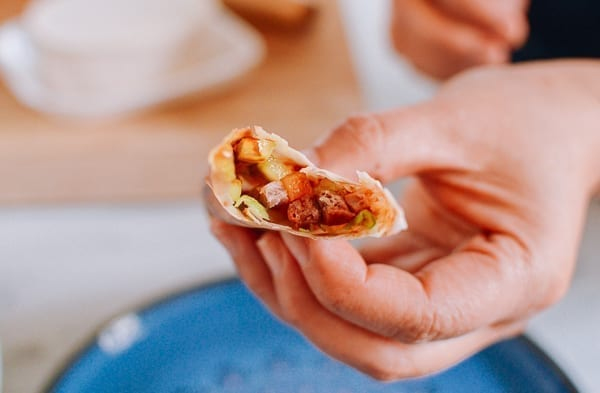 Mandarin pancake roll, thewoksoflife.com