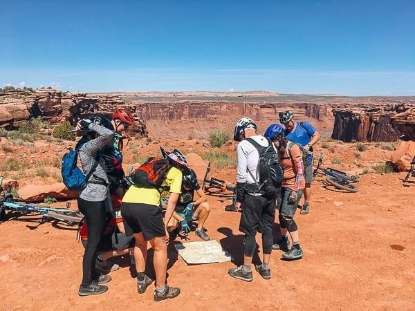Moab Mountain Biking map trail map reading by thewoksoflife.com