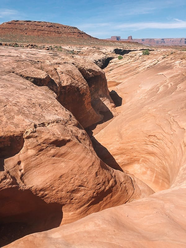 Moab Canyonlands White Rim trail Holeman Slot canyon view by thewoksoflife.com