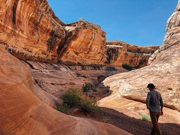 Holeman Slot canyon walk - Canyonlands National Park by thewoksoflife.com