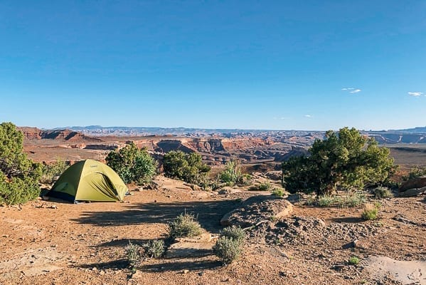 Camping view from Murphy Hogback campground Canyonlands by thewoksoflife.com