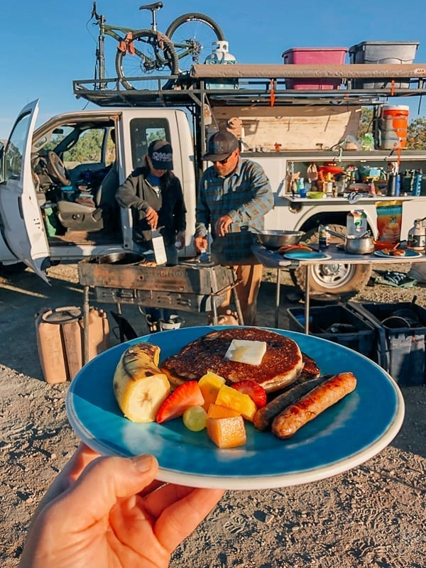 PAncake breakfast at Murphy Hogback campground Canyonlands by thewoksoflife.com