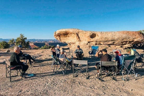 Sitting at Murphy Hogback campground Canyonlands by thewoksoflife.com