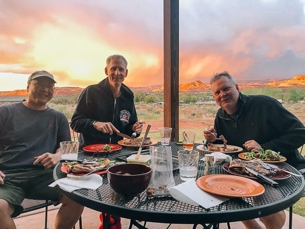Moab Mountain Bikers Sunset dinner by thewoksoflife.com