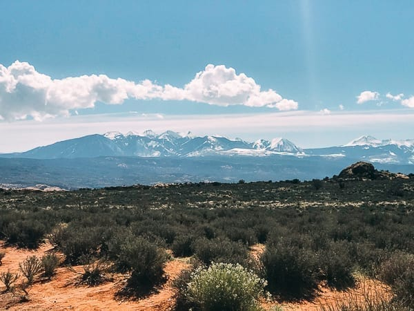 La Sal Mountains view from Canyonlands by thewoksoflife.com