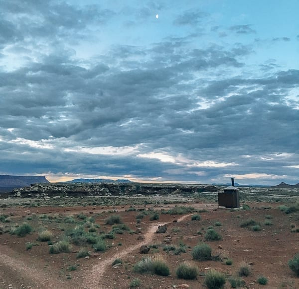 Evening sky view at Murphy Hogback campground Canyonlands by thewoksoflife.com