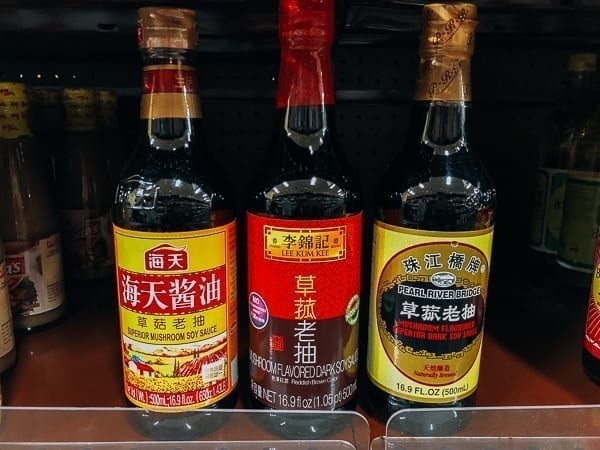 Mushroom flavored dark soy sauce, thewoksoflife.com