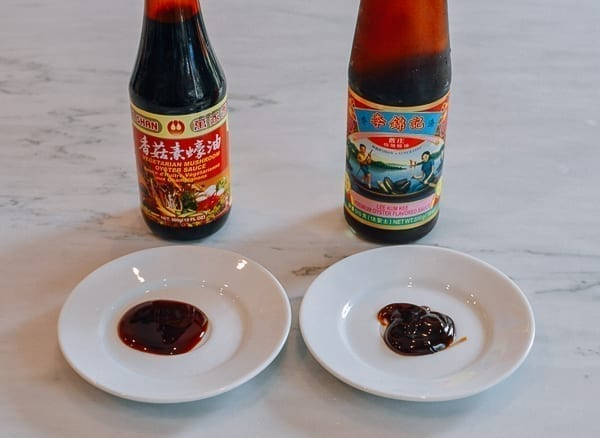 Vegetarian vs. regular oyster sauce, thewoksoflife.com