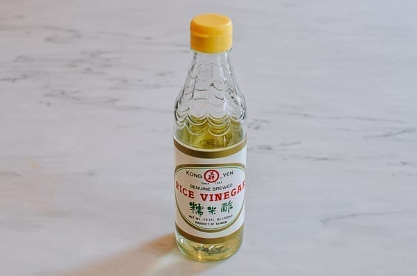 Bottle of rice vinegar, thewoksoflife.com