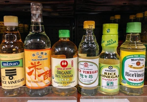 Many brands of rice vinegar, thewoksoflife.com