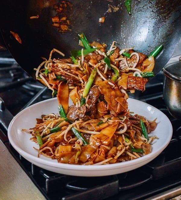 Plating Beef Chow Fun, thewoksoflife.com