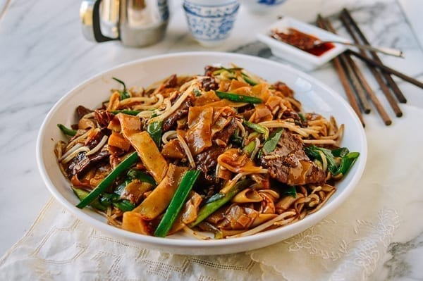 Plate of Beef Chow Fun Noodles, thewoksoflife.com