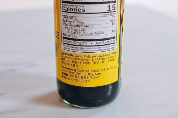 double black soy sauce ingredients label, thewoksoflife.com