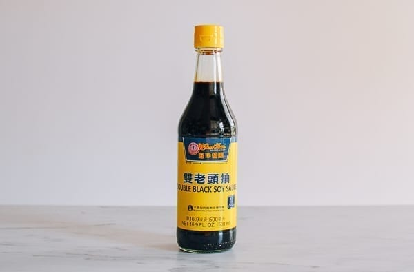 Bottle of double black soy sauce, thewoksoflife.com