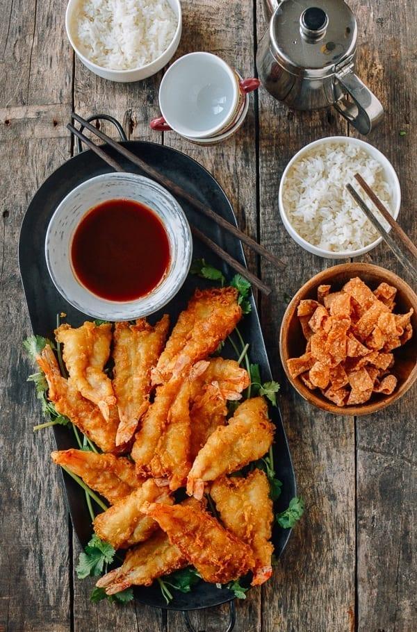 Chinese Takeout Fantail shrimp, thewoksoflife.com