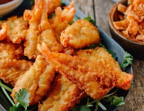 Chinese Fantail Shrimp, thewoksoflife.com