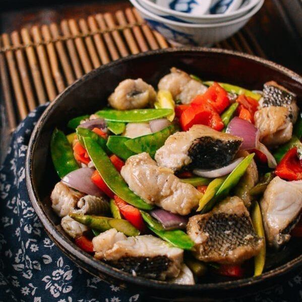 Chinese fish stir-fry, thewoksoflife.com