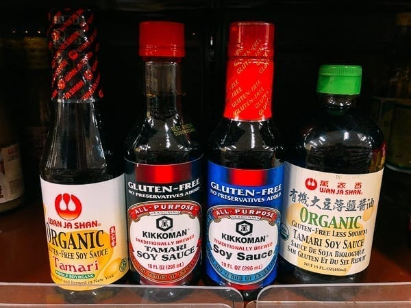 Different brands of gluten-free soy sauce, thewoksoflife.com