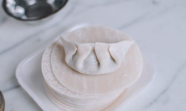 Bi-directional pleated dumpling, thewoksoflife.com