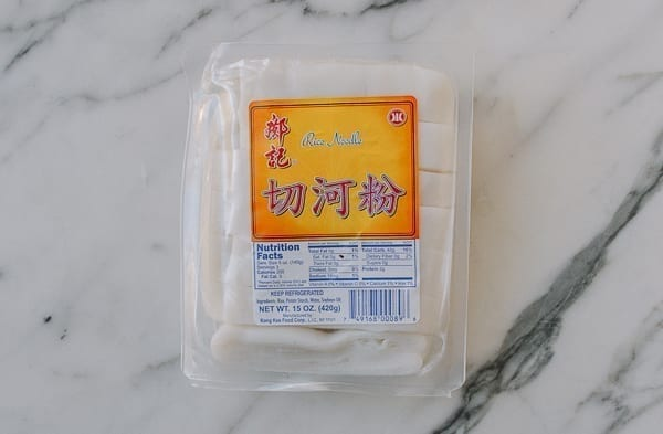 Chinese Packaged Fresh Wide Rice Noodles, thewoksoflife.com