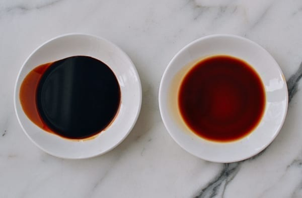 Chinese dark soy sauce vs. light soy sauce, thewoksoflife.com