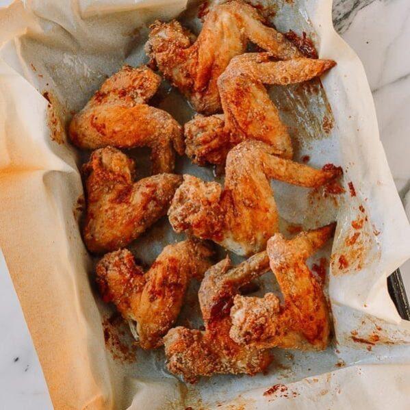Crispy White Pepper Chicken Wings, thewoksoflife.com