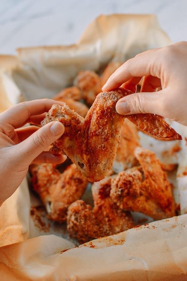 Crispy Baked Chicken Wings with White Pepper, thewoksoflife.com