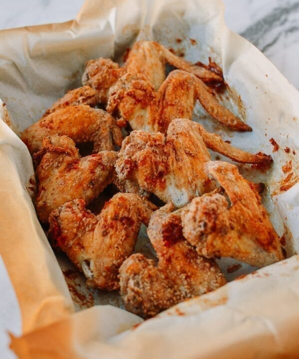 Crispy Baked White Pepper Chicken Wings, thewoksoflife.com