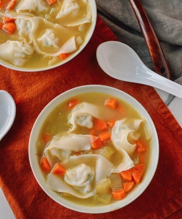 Chicken Noodle Wonton Soup, thewoksoflife.com