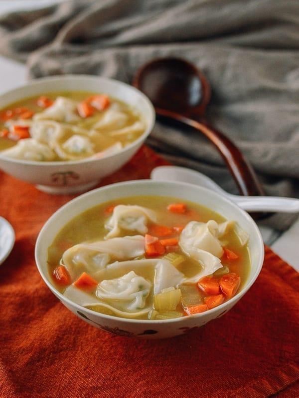 Chicken Noodle Wonton Soup, thewoksoflife.com