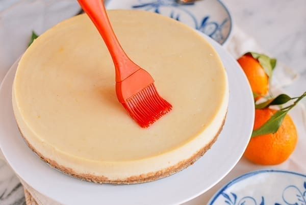 Brushing syrup on cake, thewoksoflife.com