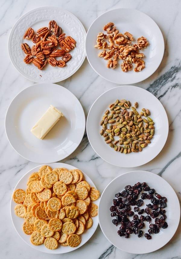 Ingredients for Holiday Marshmallow Treats, thewoksoflife.com