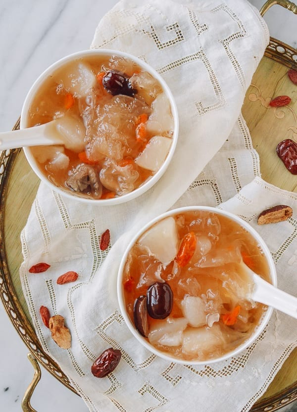 Snow fungus soup, thewoksoflife.com