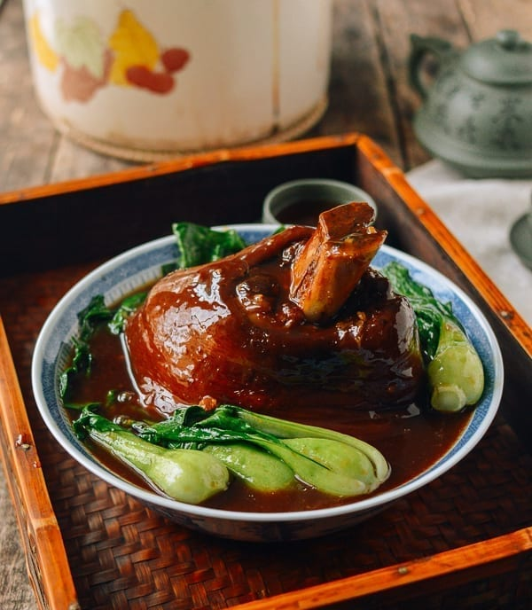 Chinese Red Cooked Pork Shank (Ti Pang), thewoksoflife.com