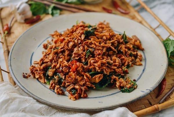 Vegan Thai Basil Stir-fry, thewoksoflife.com