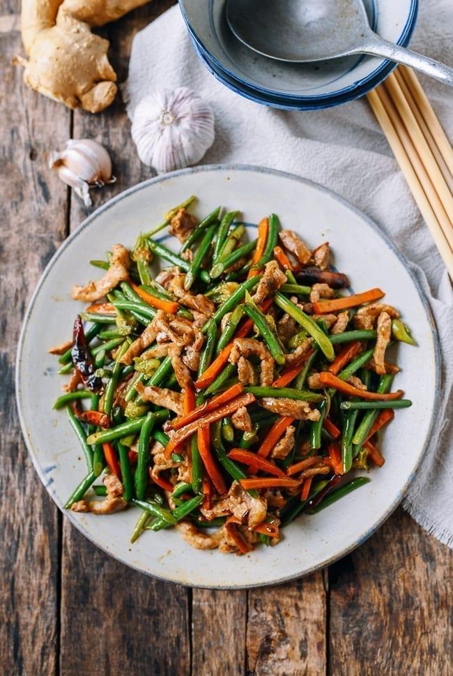 Stir-fried garlic scapes