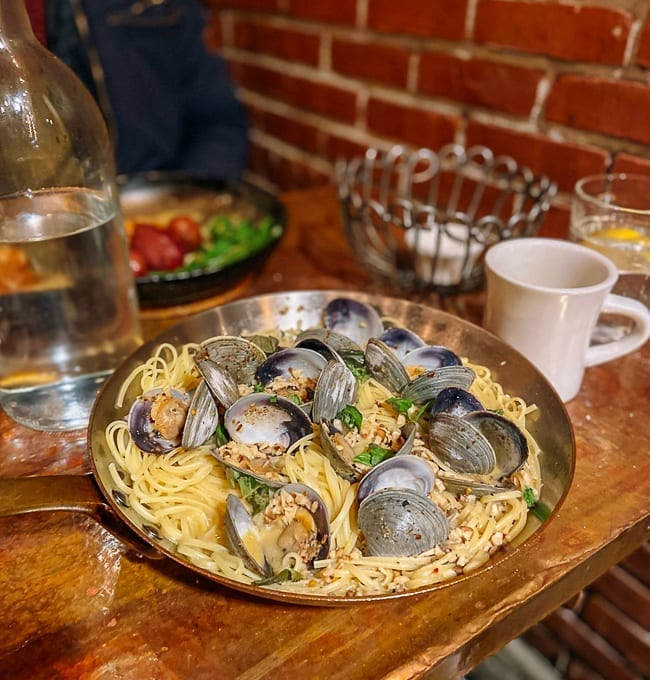 Linguine with Clams from Street & Co. in Portland, Maine