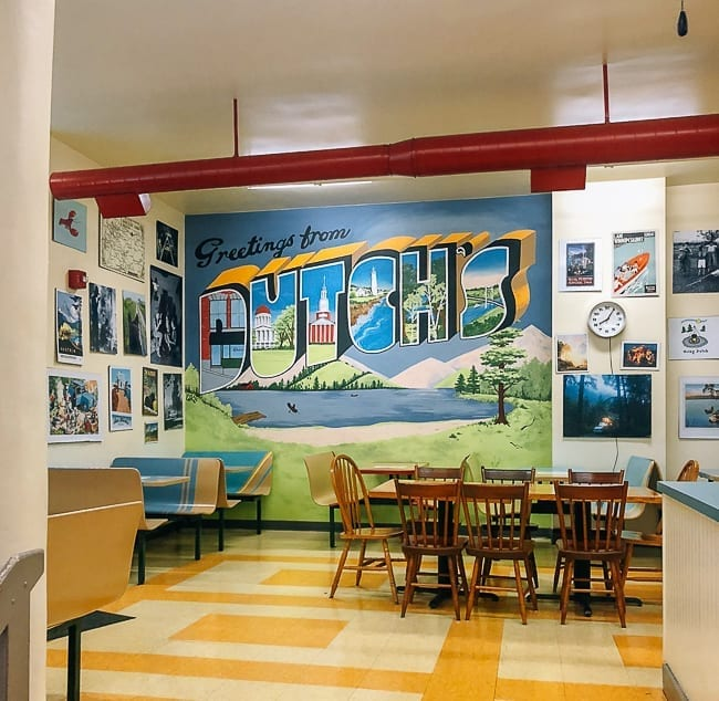 Interior of Dutch's in Portland, Maine