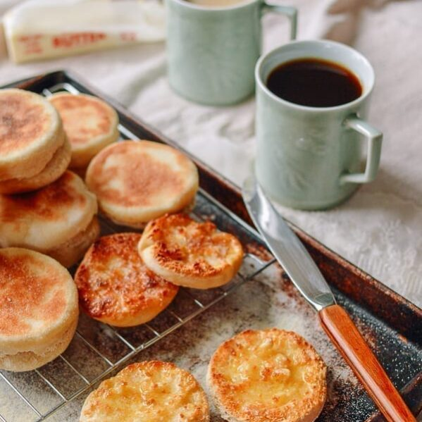 Homemade English Muffin Recipe, thewoksoflife.com
