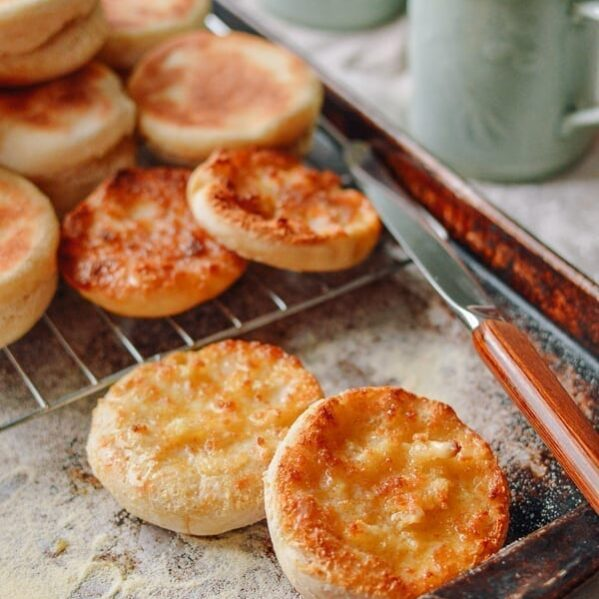 Homemade English Muffin recipe, thewoksoflife.com