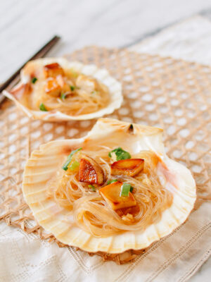 King Oyster Mushrooms with Garlicky Glass Noodles, thewoksoflife.com
