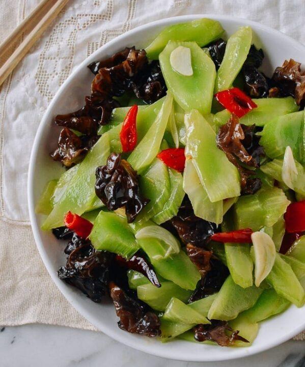 Chinese Celtuce Recipe, thewoksoflife.com