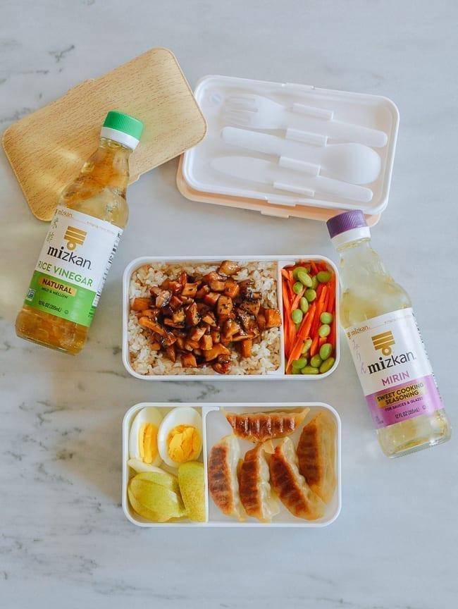 Mizkan Rice Vinegar and Mirin in bento box recipe, thewoksoflife.com
