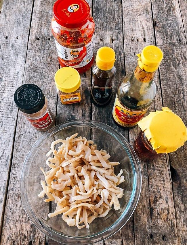 Mixing preserved daikon with Chinese seasonings, thewoksoflife.com