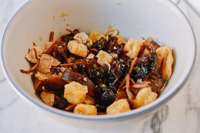 Chinese Steamed Seitan mixture, thewoksoflife.com