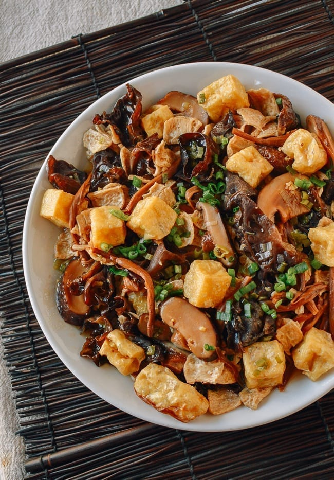 Steamed Seitan with Mushrooms & Dried Lily Flowers, thewoksoflife.com