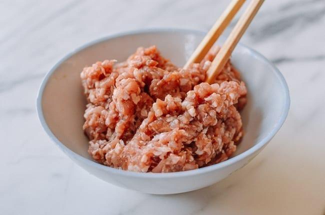 Marinated ground pork, thewoksoflife.com
