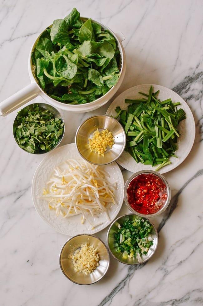 Yunnan Rice Noodle Soup Ingredients, thewoksoflife.com