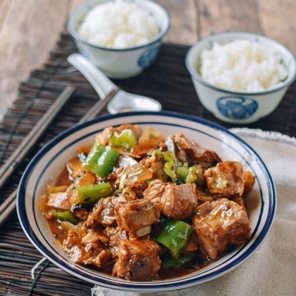 Chinese Ribs with Black Bean Sauce, thewoksoflife.com