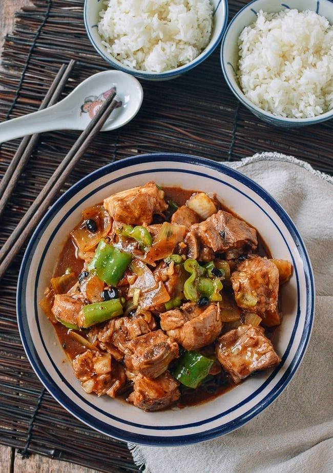 Chinese Pork Ribs with Black Bean Sauce, thewoksoflife.com